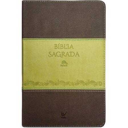 Biblia-Sagrada-NVI-Media-Luxo-Marrom-e-Verde-Claro