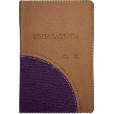 Biblia-Sagrada-NVI-Media-Luxo-Caramelo-e-Roxa