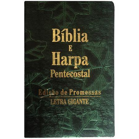 biblia-e-harpa-pentecostal-letra-gigante-Verde-Folhas