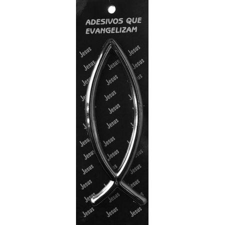 Adesivo-automotivo-peixe-placa-prata