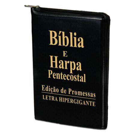 Biblia-e-Harpa-Pentecostal-Letra-Hipergigante-Preta-Ziper