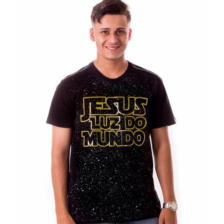 Camiseta-Masculina-Jesus-Luz-do-Mundo
