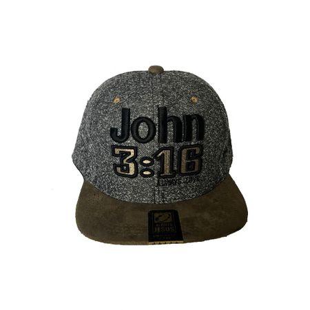 Bone-Aba-Reta-John-3-16-Cinza-e-Marrom