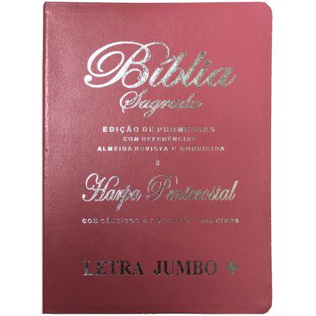 Biblia-ed-promessas-com-harpa-letra-jumbo-rosa