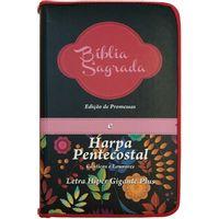 Biblia-e-Harpa-pentecostal-letra-hipergigante-edicao-de-promessas-linha-gold-pink-com-flores-coloridas