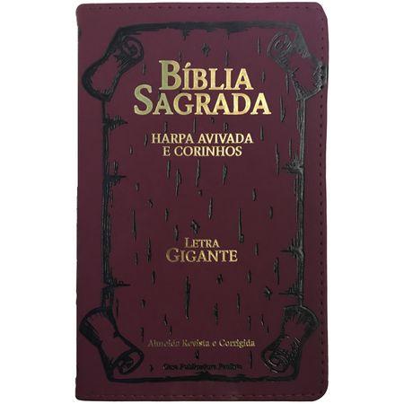 Biblia-com-Harpa-Avivada-e-Corinhos-Letra-Gigante-Vinho-borda-trigo