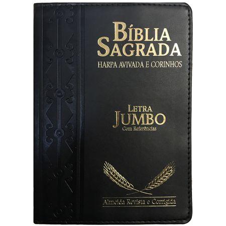 Biblia-com-Harpa-Avivada-e-Corinhos-Letra-Jumbo-Preta-Trigo