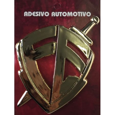 Adesivo-automotivo-fe-placa-dourada