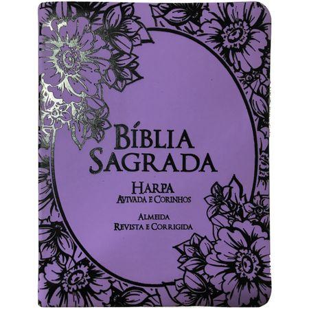 Biblia-RC-Harpa-Avivada-e-Corinhos-Letra-Grande-CPP-Lilas