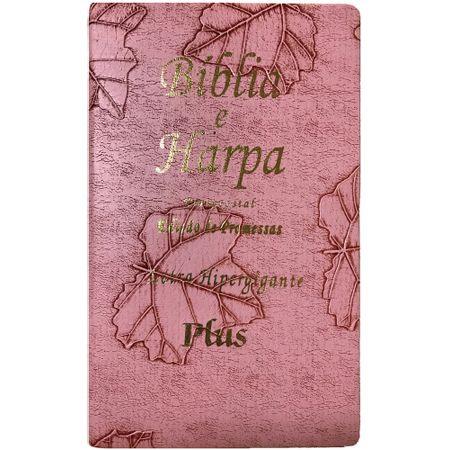 Biblia-e-Harpa-Pentecostal-Letra-Hiper-Gigante-Plus-Folhas-Rosa