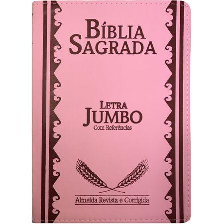 Biblia-Sagrada-Letra-Jumbo-Rosa