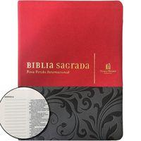 Biblia-NVI-Com-Espaco-Para-Anotacoes-Luxo-vermelha-e-cinza