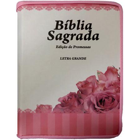 Biblia-Edicao-de-Promessas-Letra-Grande---Rosa--Linha-Gold-