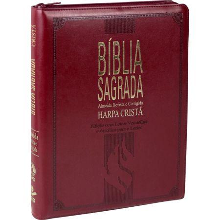 BIBLIA-EXTRA-GIGANTE--LETRAS-VERMELHAS-HARPA-CRISTA-ZIPER-VERMELHA