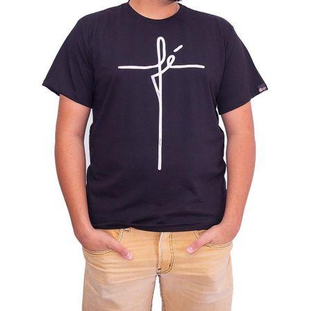 Camiseta-Masculina-Fe-Preta-