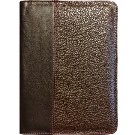 Capa-de-Biblia-Couro-Grande-Ziper-Marrom-Lisa