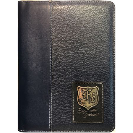 Capa-de-Biblia-Couro-Grande-Ziper-Azul-Fe-So-em-Jesus