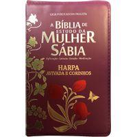 Biblia-de-Estudo-da-Mulher-Sabia-com-Harpa-Ziper-Vinho