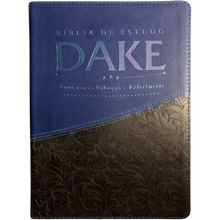 Biblia-de-Estudo-Dake-Azul-e-Preta
