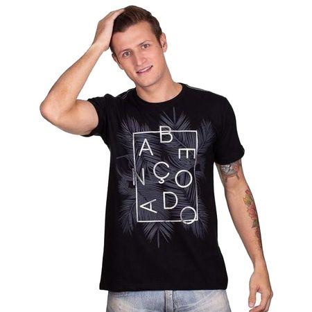 Camiseta-Masculina-Abencoado-Preta-
