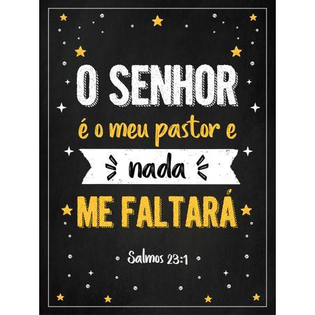Quadro-MDF-Medio---O-Senhor-E-O-Meu-Pastor