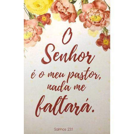 Quadro-MDF-Grande----O-Senhor-e-Meu-Pastor---Floral