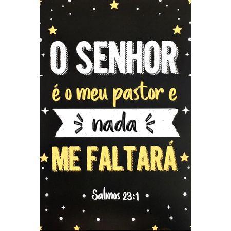 Quadro-MDF-Grande---O-Senhor-e-Meu-Pastor-Preto