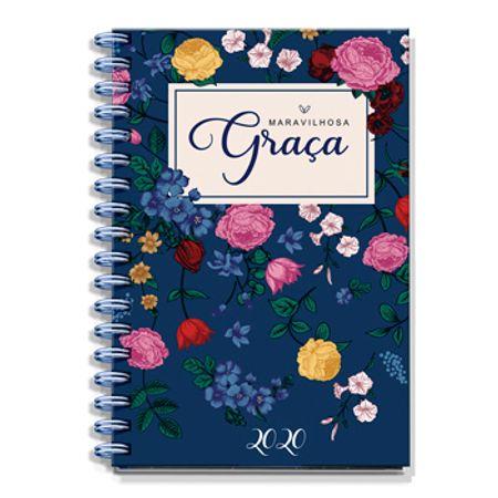 Agenda-Maravilhosa-Graca-2020-Pequena-Azul-Marinho