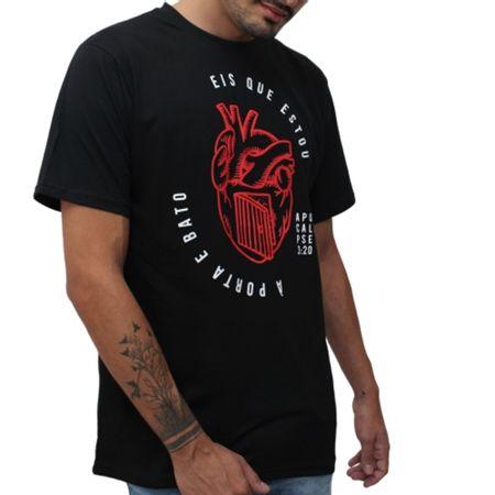 Camiseta_Masculina_Rei_dos_Reis_Eis_que_estou_a_porta_Preta