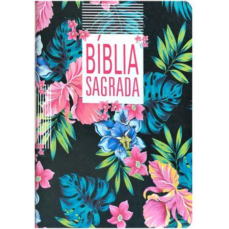 Biblia-NAA-Slim-Floral-Preta-