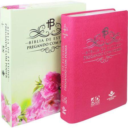 Biblia-de-Estudo-Pregando-com-Poder-Rosa