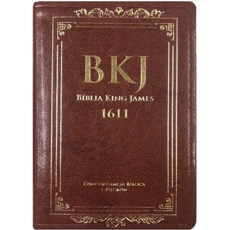 Biblia-king-james-1611-marrom-com-concordancia-e-pilcrow
