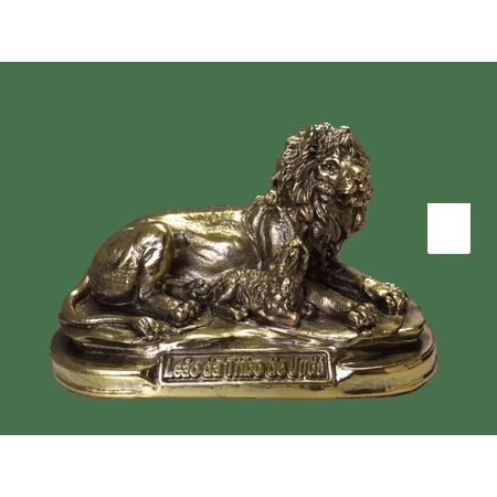 Estatua-Leao-e-Ovelha-Dourado