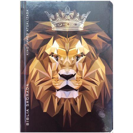 Biblia-King-James-Atualizada-Leao-Coroa-Marrom