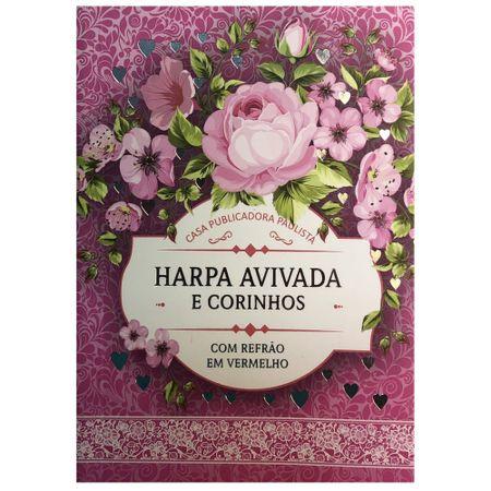 Harpa-Avivada-e-Corinhos---Letra-Hipergigante---Brochura---Floral