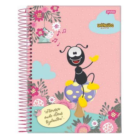 Caderno-Smilinguido-Espiral--80-Folhas---Rosa-Smili-Floresca