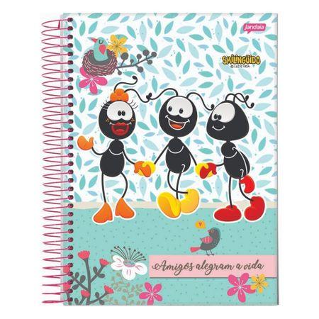 Caderno-Smilinguido-Espiral--80-Folhas---Folhas-Amigos-