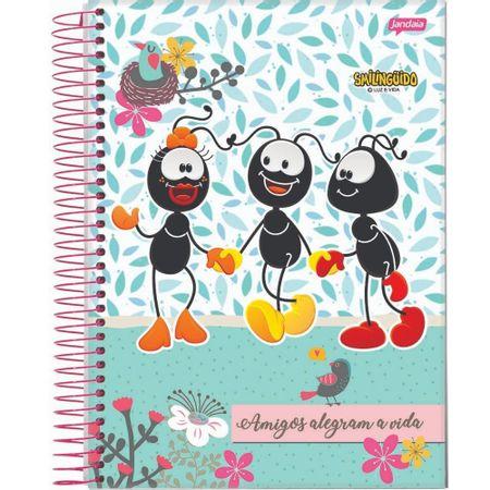 Caderno-Smilinguido-Espiral-Folhas-Amigos
