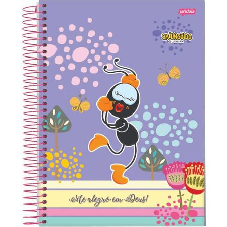 Caderno-Smilinguido-Espiral-Lilas-Fani-Me-Alegro