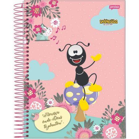 Caderno-Smilinguido-Espiral-Rosa-Smili-Floresca