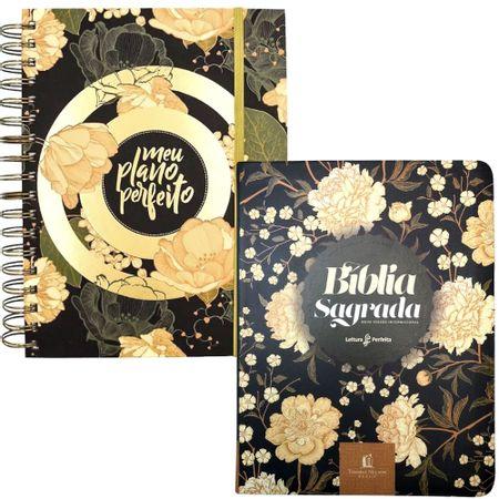 Kit-Planner---Biblia-Meu-Plano-Perfeito-Flores-Dourado