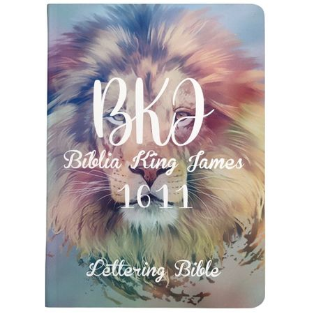 Biblia-King-James-1611-Leao---Tie-Dye---Lettering-Bible