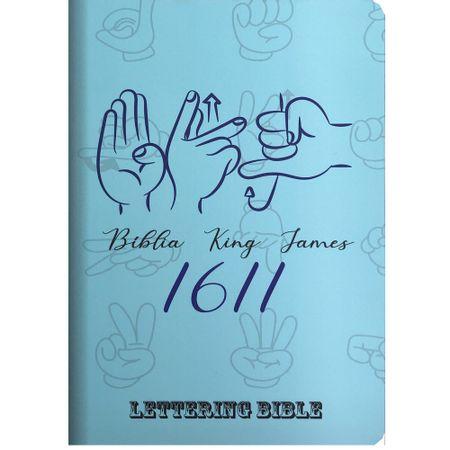 Biblia-King-James-1611-Sinais---Lettering-Bible