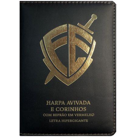 Harpa-Avivada-e-Corinhos---Letra-Hipergigante---Escudo-Fe-Capa-Luxo