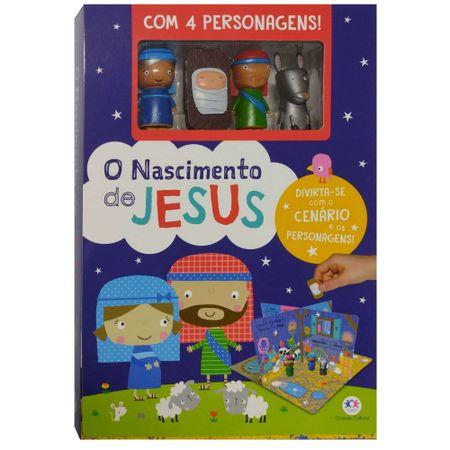 O-Nascimento-de-Jesus-Com-4-Personagens-e-Cenario