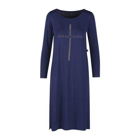 Vestido-Manga-Longa-Jesus-Cristo-Azul