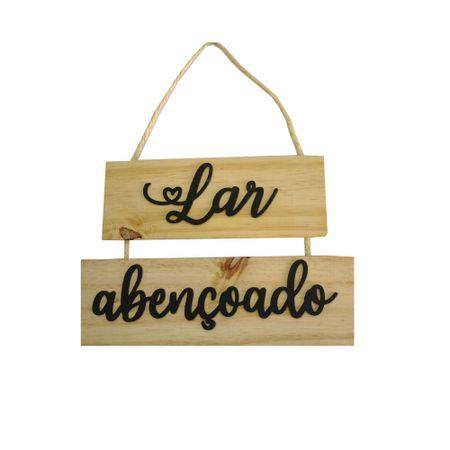 Placa-Madeira-Lar-Abencoado-Com-2-Pecas